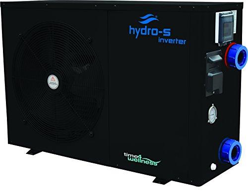 Hydro-S Wärmepumpe Stahl Typ Inverter Seitlich optional mit Bypass-Set von time4wellness (12 kW, ohne Bypass)