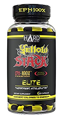 Yellow Stack Thermogenic Fat Burner Stack - Over The Counter Weight Loss Pills - Suppress Appetite, Boost Metabolic Rate, Rapid Fat Loss Acceleration - 100 Capsules