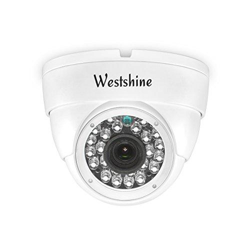 Westshine Cámara de Seguridad IP, 2MP PoE (Power by Ethernet),Cámaras Domo de vigilancia para Red en Interiores,Nube P2P, detección de Movimiento, 24pcs IR Leds 30 Metros de visión Nocturna