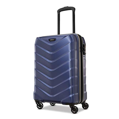 American Tourister Arrow Expandable Hardside Luggage, Navy, Carry-On 21-Inch