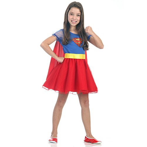 Sulamericana Fantasias Super Mulher Princesa Infantil , P 3/4 Anos, Azul/Vermelho