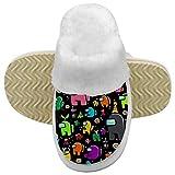 971 More Among Us Kids - Pantuflas antideslizantes de felpa de algodón para interiores y exteriores para niños y niñas