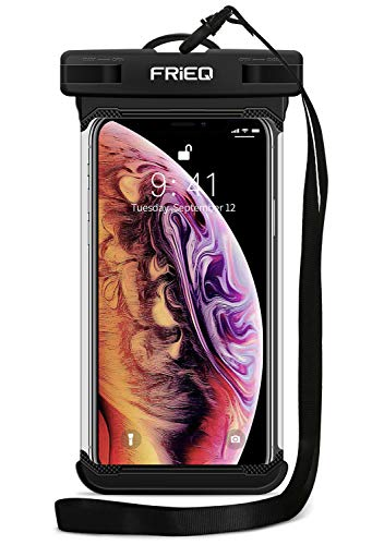FRiEQ Waterproof Case Cellphone Dry Bag Pouch for iPhone 11 / iPhone 11 Pro Max Xs Max XR XS X 8 7 6S Plus, Samsung Galaxy S10 S10e S9 S8 +/Note 9 8, Pixel 3 2 XL HTC LG Sony Moto up to 6.5'