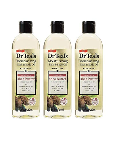 Dr. Teal's Moisture + Ultra Rich Shea Butter & Essential Oil Moisturizing Bath & Body Oil 8.8oz Pack of 3