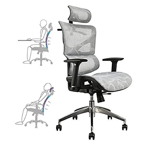 HGTRH Drehstuhl Ergonomisch, Arbeitsstuhl Ergonomisch Chefsessel Kippfunktion Schreibtischstuhl Verstellbare Rückenlehne Lordosenstütze Atmungsaktiver Kopfstütze Sitzhöhe Einstellbare