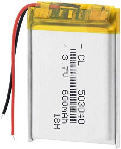 503040 Batería Recargable de Batería Li PO de LI PO 600 MAH Baterías de Iones de Litio para PSP MP3 MP4 GPS Altavoz para Auriculares-2 Piezas