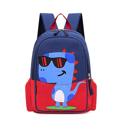 Children's Backpack, Kids Toddler Preschool Cartoon Dinosaur Cool Waterpoof Scool Bookbag for Boys Girls(Red)