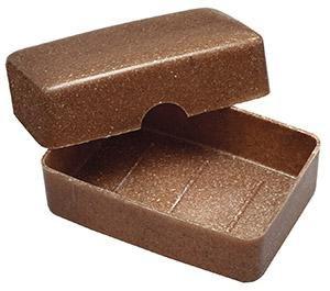 Saling - Seifendose aus Flüssigholz, 100% biologisch abbaubar, 100% nachwachsender Rohstoff