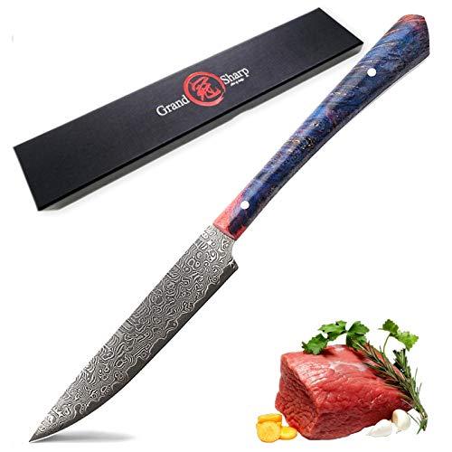 Lujo japonés VG10 Damasco de acero cuchillo de filete profesional Chef Cuchillos Utilidad Tomate Paring Cuchillos de cocina Cocina Cena juego de cuchillos de cuchillo (Color : A)