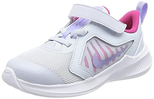 Nike Downshifter 10 (TDV), Scarpe da Ginnastica Unisex-Bambini, Football Grey/Purple Pulse-Thunder Blue-White, 27 EU
