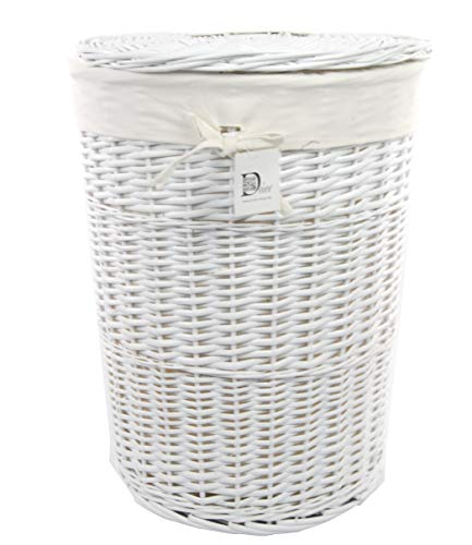 dvier Wäschekorb Laundry Weide weiß D.46 H.62cm 08WRd-c