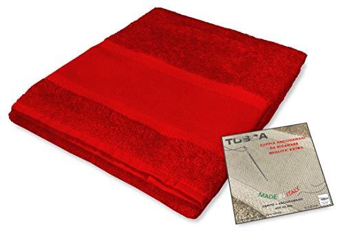 Tex family Frottee-Handtuch-Set Tosca © Aida-Stoff zum Sticken, Kreuzstich 1+1 für Gesicht und Gäste, rot