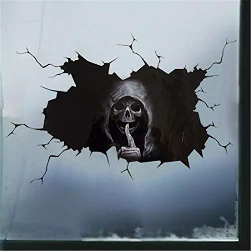 YCYY Happy Halloween Wall Floor Sticker Horror Wall Stickers Silent Skull Sticker Car Window Home Decoration Decal Decor Party 30 * 20Cm