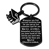 Class of 2021 Graduation Gifts for Him Her Senior 2021 Inspirational Keychain Gifts for Women Men Daughter Son Graduate Gift for College Student Sobriety AA NA Recovery Post Surgery Cancer Survivor