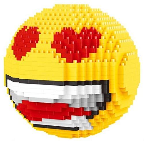 Balody Emoticón con Corazones en los Ojos. Figura para armar con nanobloques.
