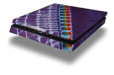 Tie Dye Alls Purple - Decal Style Skin fits Sony PlayStation 4 Slim Gaming Console