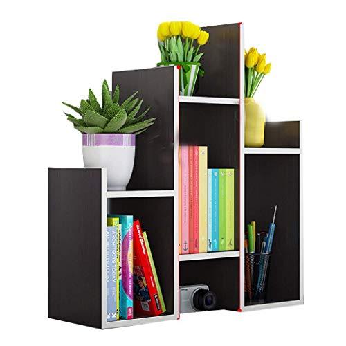 Estante para Libros Estantería Libro de Escritorio Estante de la Mesa Caja de Almacenamiento Documentos Libros de Almacenamiento de múltiples Capas del Estante Acabado Librero (Color : A)