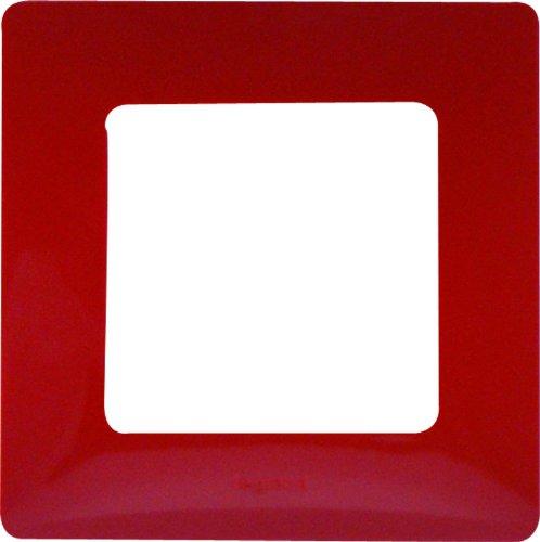 Legrand LEG96702 Niloé - Marco para interruptor (1 orificio), color rojo