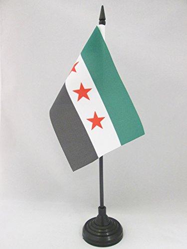 AZ FLAG TISCHFLAGGE FREIE SYRISCHE Armee 15x10cm - SYRIEN TISCHFAHNE 10 x 15 cm - flaggen