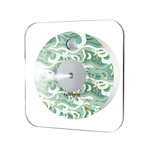 NATRKE 加湿器 センサー 壁掛け式 超音波式 3段階ライト 2600mAh 超静音 卓上加湿器 小型 USB充電式 オフィス 部屋 花粉対策に 乾燥防止 日本語マニュアル 一年間保証 波