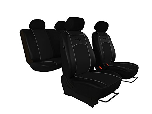 Sitzbezüge passend für A-Klasse (W168, W169). Super Qualität, DESIGN KUNSTLEDER. In diesem Angebot SCHWARZ (In 7 Farben bei anderen Angeboten erhältlich) . Komplett besteht aus: Sitzbezügen + Kopfstützen + Montagehäckchen.