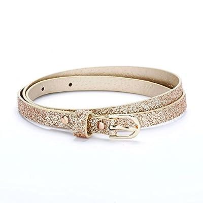 Ultra Skinny Sparkly Belt (S/M (4-7YR), Rose Gold)
