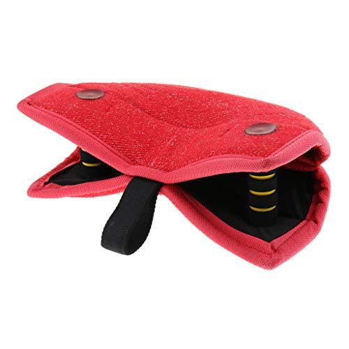 PETSOLA Beißbrett Beißkissen Hundesport Schutzdienst Hundetraining Spielzeug - Rot