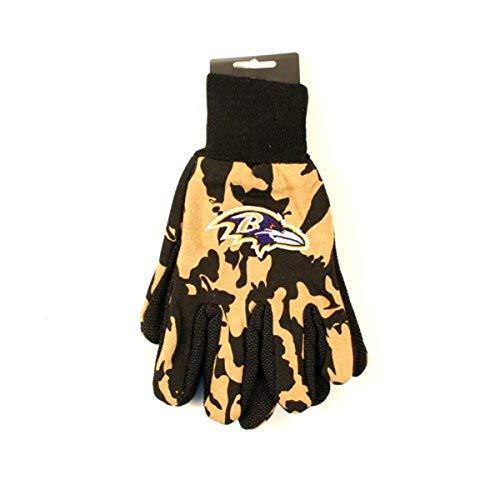 WinCraft NFL Baltimore Ravens Camo Handschuhe, 2er-Pack, Gold/Schwarz