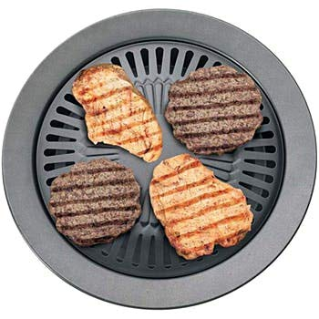Smokeless Indoor Stovetop Barbeque Grill by A&D Home Aids   Heavy Duty Stove Top Grill For Indoor Grilling Year Round Stove Top Grill 12-3/8'   Grill Your Favorite Foods Without Smoke