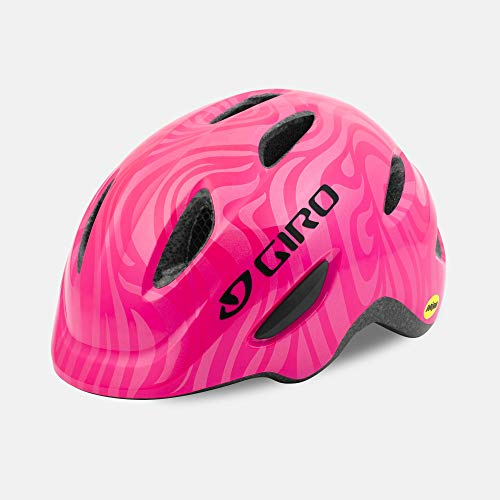 Giro Scamp MIPS Youth Recreational Bike Cycling Helmet - Extra Small (45-49 cm), Bright Pink/Pearl (2020)