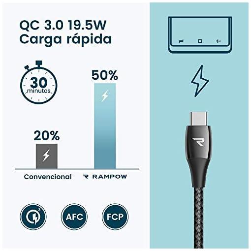 RAMPOW Cable USB Tipo C a USB A 3.0 Cable USB C Carga Rápida Aleación de Zinc de por Vida [USB C 3.0 5Gbps] para Samsung… 2