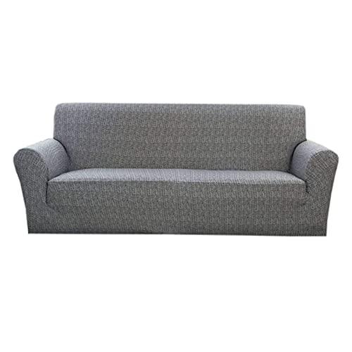 Bedruckter Sofabezug Stretch,Couchbezug für 1 2 3 4 Kissen Couchmöbelschutz mit elastischem Boden Waschbare Elasthan Sofaschoner mit Zwei kostenlosen Kissenbezügen-XL-Sofa(92'-118')-C