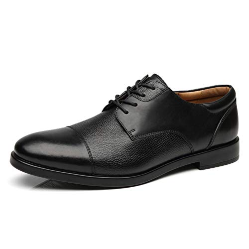 La Milano Wide Width Men's Leather Dress Shoes Slip On Square Toe Loafer Shoes Mens Comfortable Business Extra Wide Shoes EEE