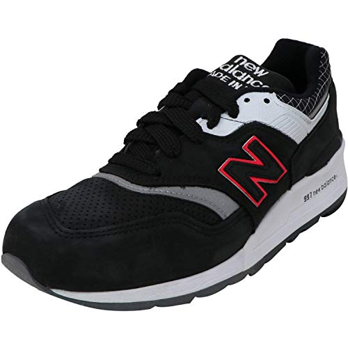 New Balance 997 Made in The USA Black Contrast Trainers - UK 10