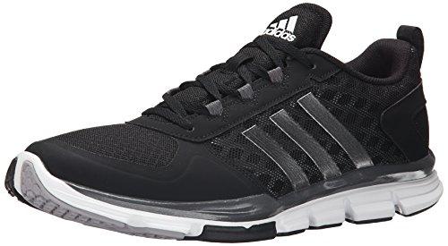 adidas Performance Men's Speed Trainer 2 Training Shoe, Black/White/Carbon Metallic, 9.5 M US