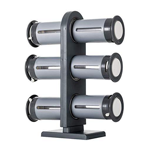 Zero-Gravity Magnetisch kruidenrek met 6 kruidpotten, kruidenstandaard zilver stand-up magneet kruidenrek keuken