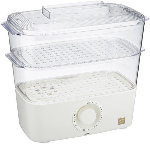 BRUNO 素材のおいしさを逃さず調理できる卓上蒸し器 コンパクトスチームクッカー ホワイト BOE001-WH