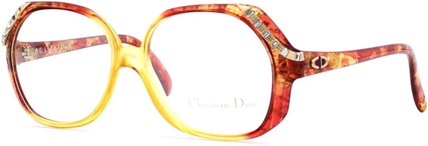 Christian Dior 2528 30 Brown and Red Authentic Women Vintage Eyeglasses Frame
