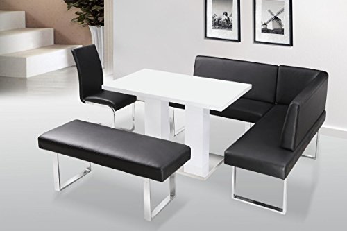 Liberty Dining Table White High Gloss, Dining Room Table, High Gloss With Stainless Steel Base 1200W x 800D x 750H, Dining Room Furniture