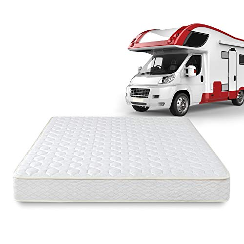 Zinus 8 Inch Foam and Spring RV Mattress / Short Queen Size for RVs, Campers & Trailers / Mattress-in-a-Box