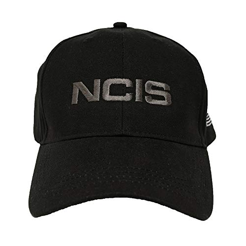 CBS NCIS Special Agent Hat with Flag - Official Cap of Agent Leroy Gibbs As Seen On Black