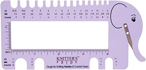 Knitter's Pride KP800224 Needle & Crochet View Sizer W/Yarn Cutter-Lilac, Purple