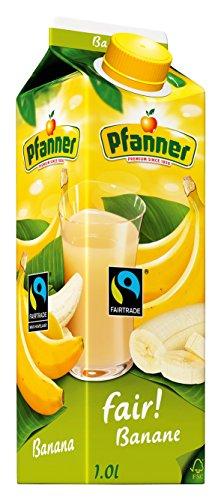 Pfanner Fairtrade Bananen Nektar 25%, 8 x 1 l Packung