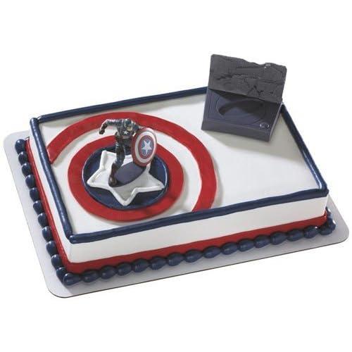 Captain America Avenger Cake Decorating Kit