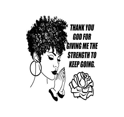 EvelynDavid Black Women Praying Stylish Princess Princess Queen Afro Hair Beautiful African Female Lady Sticker Vinyl Decal Vector Clipart Digital Circuit Cut Cutting