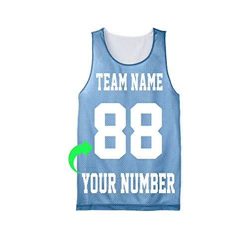 Personalize Your Own Basketball Jersey with Your Custom Name and Number (Carolina Blue, Youth-Medium)