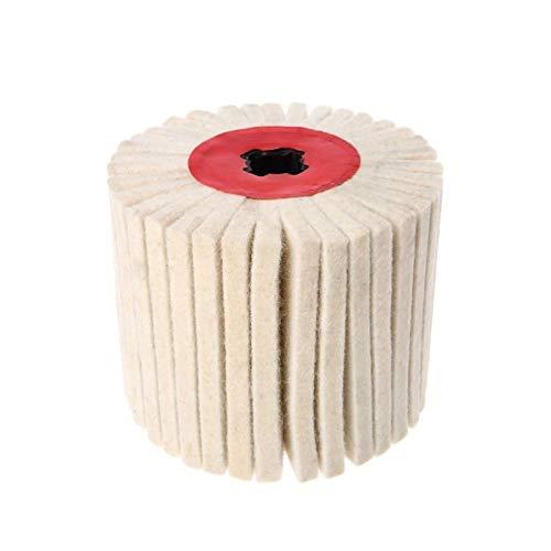 Limpieza de la lana abrasiva Cepillo redondo Pulido Pulido Pulido creación de bandas de ruedas -M18 XIAO DIAO