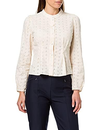 ONLY Damen ONLASHANTI Life LS ANG DNM Shirt Bluse, Creme, S