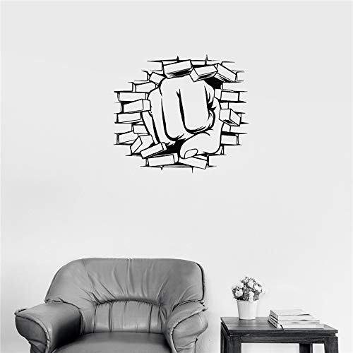 hetingyue Adesivo murale Boxe Vinile Adesivo da Parete Rotto Soggiorno Rimovibile Adesivo Poster Decorazione della casa Adesivo da Parete 104x118 cm