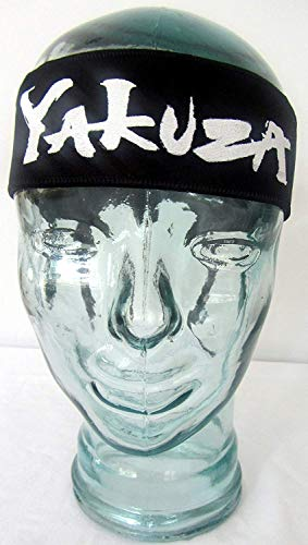 TANAKA - Cerchietto per arti marziali YAKUZA KENDO Tenugui Samurai - Stretch Hachimaki -Ninja Shinobi Fascia per capelli per uomo/donna/bambini KARATE KID